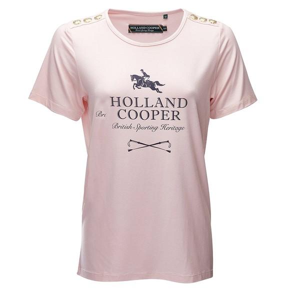 Holland Cooper Womens Pink Hurdle T-Shirt
