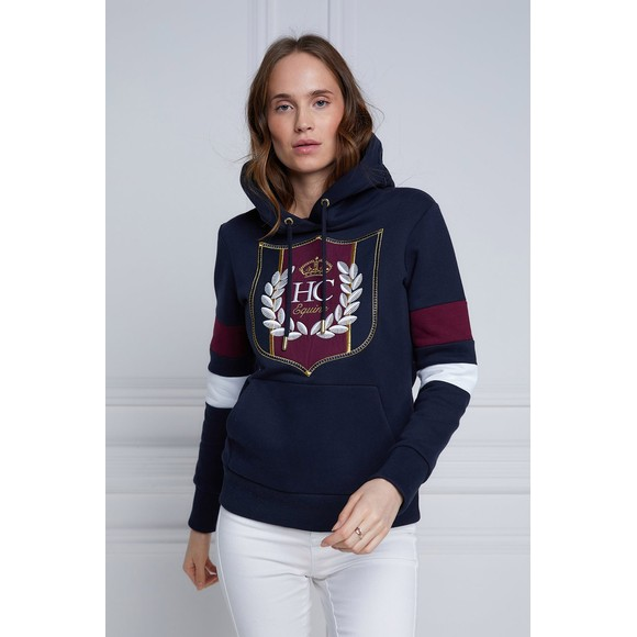 Holland Cooper Womens Blue Crested Hoody