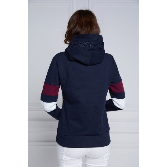 Holland Cooper Womens Blue Crested Hoody main image