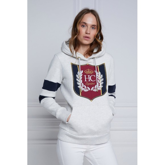 Holland Cooper Womens Grey Crested Hoody main image