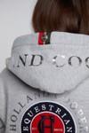 Holland Cooper Womens Grey Team Zip Hoody