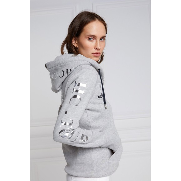 Holland Cooper Womens Grey Team Zip Hoody main image