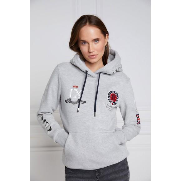 Holland Cooper Womens Grey Team Overhead Hoody