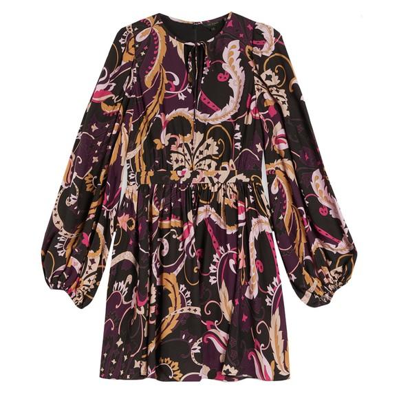 Ted Baker Womens Purple Rhabia Relaxed Mini Dress