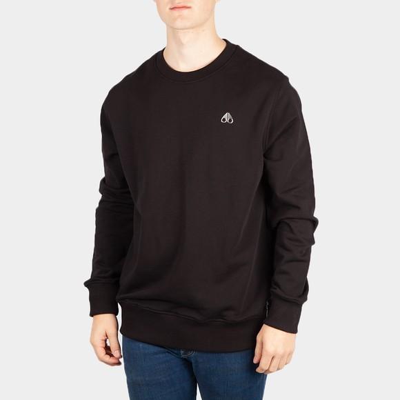 Moose Knuckles Mens Black Le Land Crew Sweatshirt