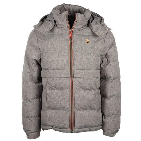 Luke Sport Mens Grey Mallard Heavy Quilted Funnel Jacket main image