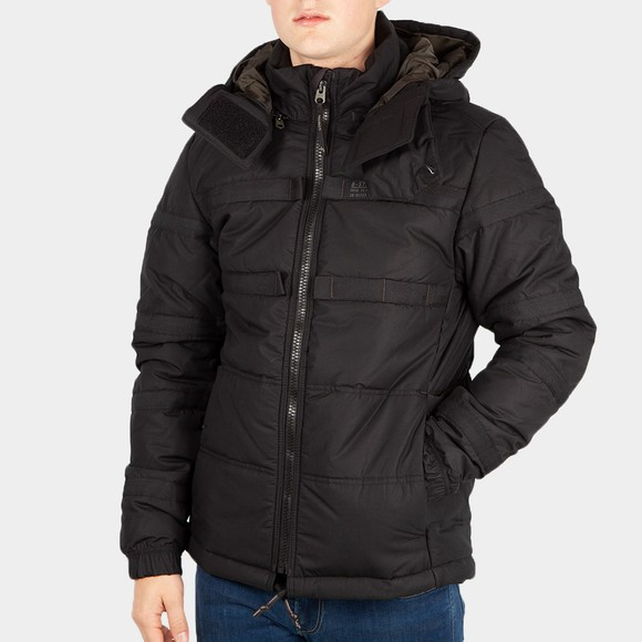 G-Star Mens Black Attac Tape Quilted Padded Jacket main image