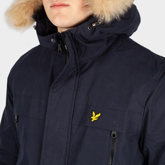Lyle and Scott Mens Blue Fleece Lined Jacket main image