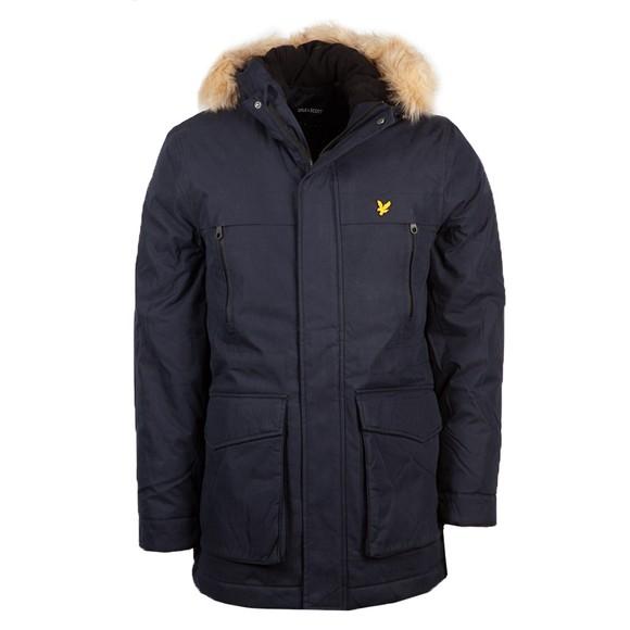 Lyle and Scott Mens Blue Fleece Lined Jacket