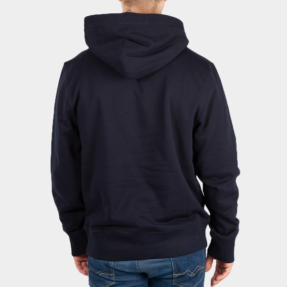 Tommy Hilfiger Mens Blue Icon Earth Badge Hoodie main image