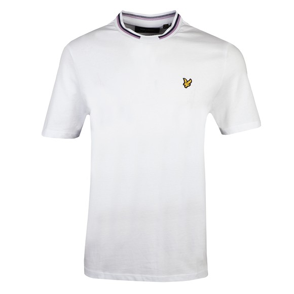 Lyle and Scott Mens White Double Tipped T-Shirt