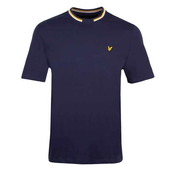 Lyle and Scott Mens Blue Double Tipped T-Shirt