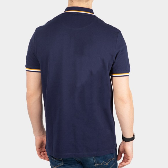 Lyle and Scott Mens Blue Double Tipped Polo Shirt main image