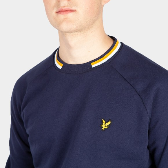 Lyle and Scott Mens Blue Double Tipped Sweatshirt main image