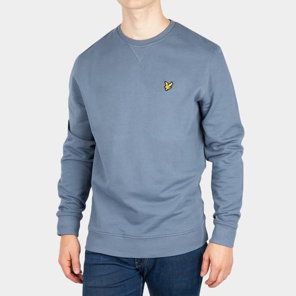 Lyle and Scott Mens Blue Crew Neck Sweatshirt
