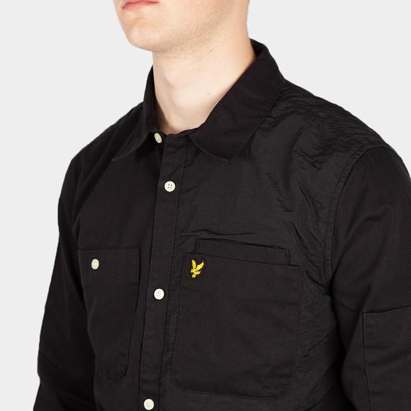 Lyle and Scott Mens Black Tech Pocket Overshirt main image