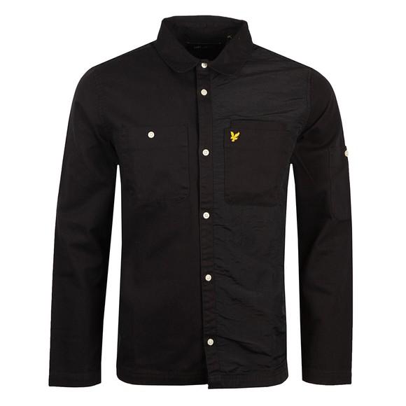 Lyle and Scott Mens Black Tech Pocket Overshirt