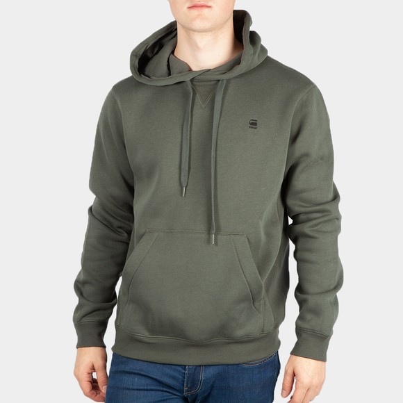 G-Star Mens Blue Premium Core Hooded Sweatshirt