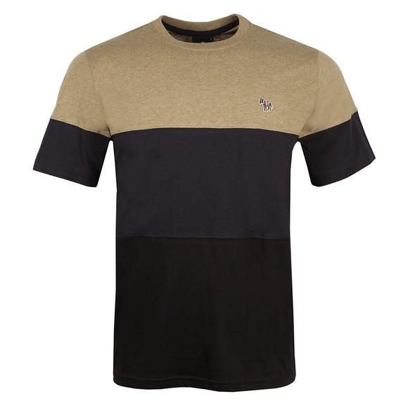 PS Paul Smith Mens Black Colour Block T Shirt