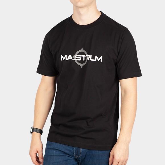 Ma.Strum Mens Black Logo Print T Shirt