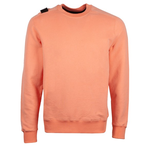 Ma.Strum Mens Orange Core Crew Sweatshirt
