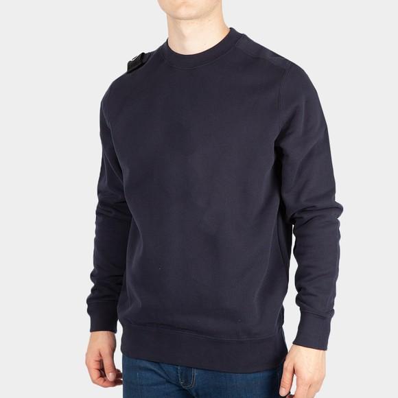 Ma.Strum Mens Blue Core Crew Sweatshirt