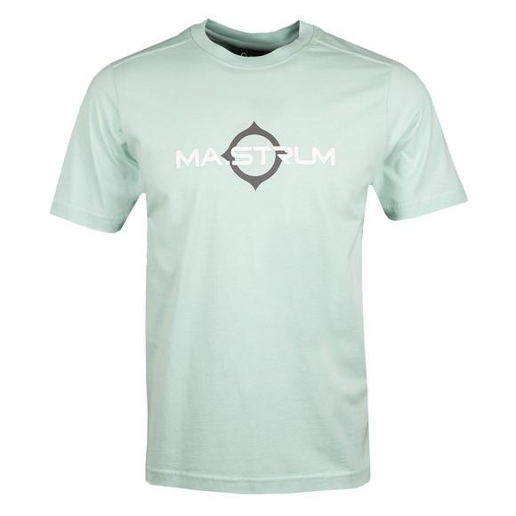 Ma.Strum Mens Green Logo Print T Shirt