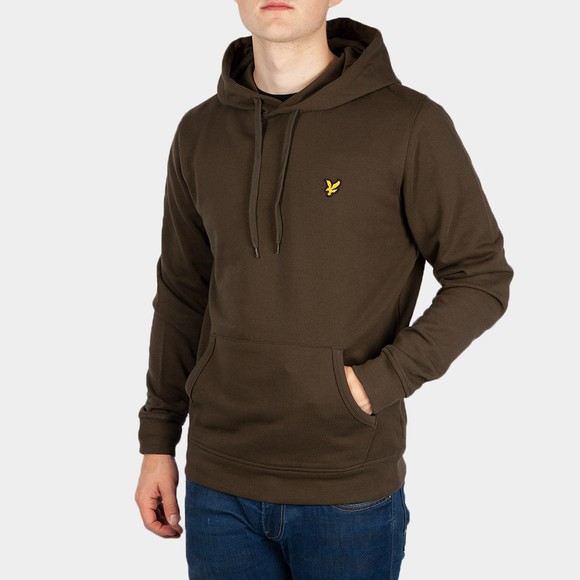 Lyle and Scott Mens Green Pullover Hoodie