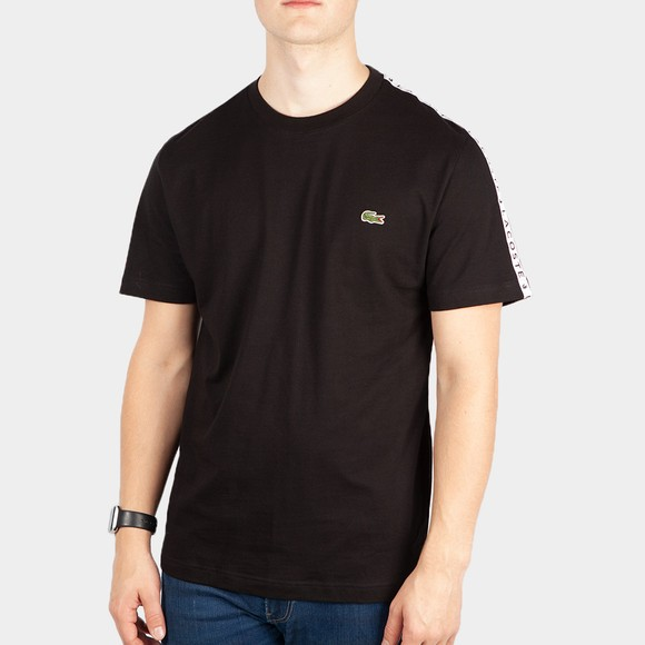 Lacoste Mens Black TH7079 Tape T-Shirt