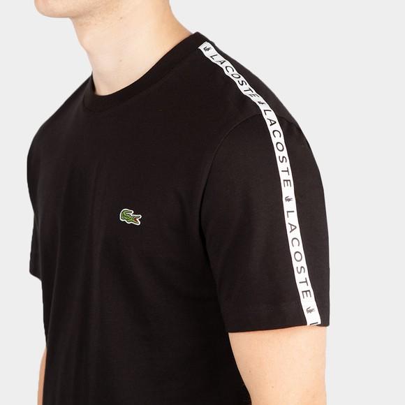 Lacoste Mens Black TH7079 Tape T-Shirt main image