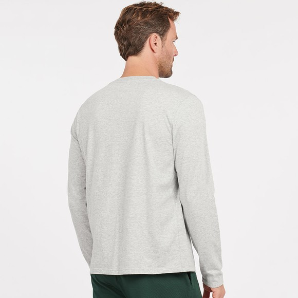 Barbour Lifestyle Mens Grey Sheldon L/S T-Shirt main image