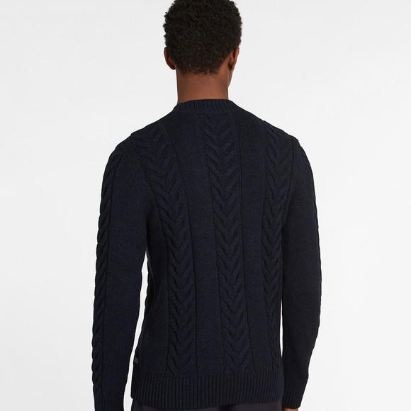 Barbour Lifestyle Mens Blue Essential Cable Knit main image