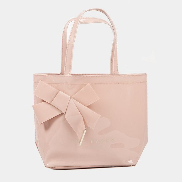 Ted Baker Womens Pink Nikicon Knot Bow Small Icon Tote Bag