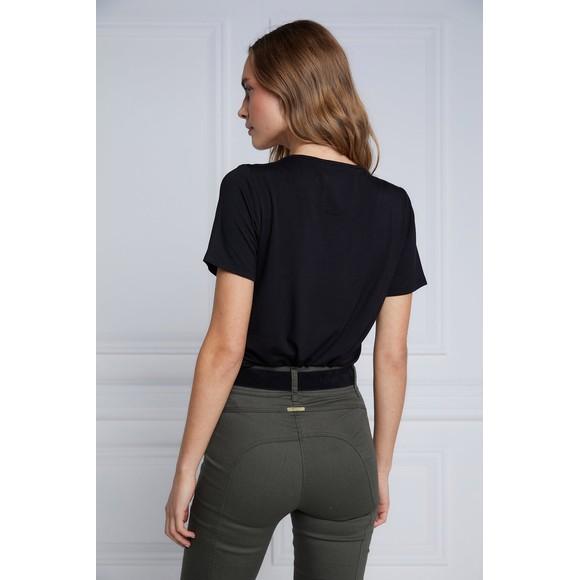 Holland Cooper Womens Black Serif T Shirt main image