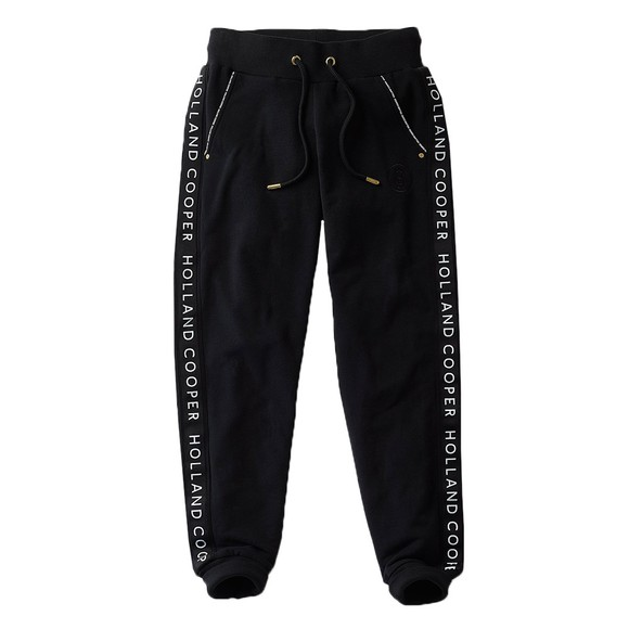 Holland Cooper Womens Black Deluxe Jogger