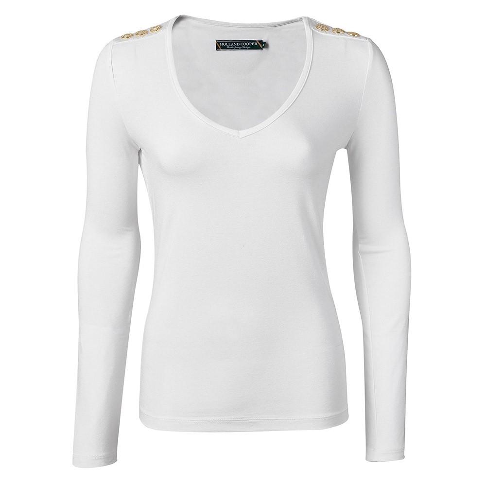 Long Sleeve V Neck T Shirt main image