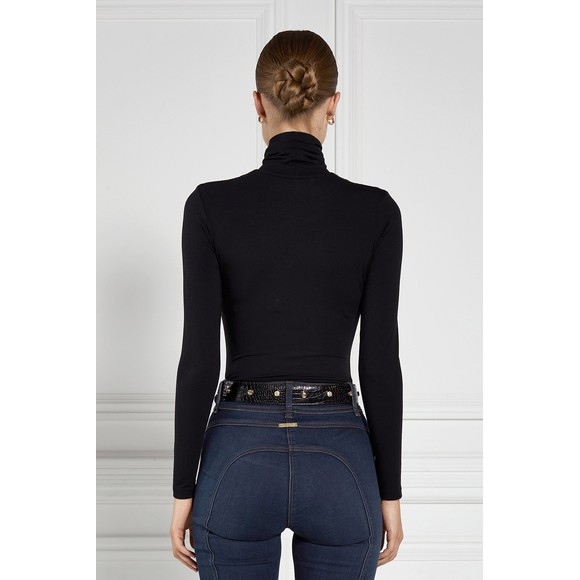 Holland Cooper Womens Black Long Sleeve Roll Neck  main image
