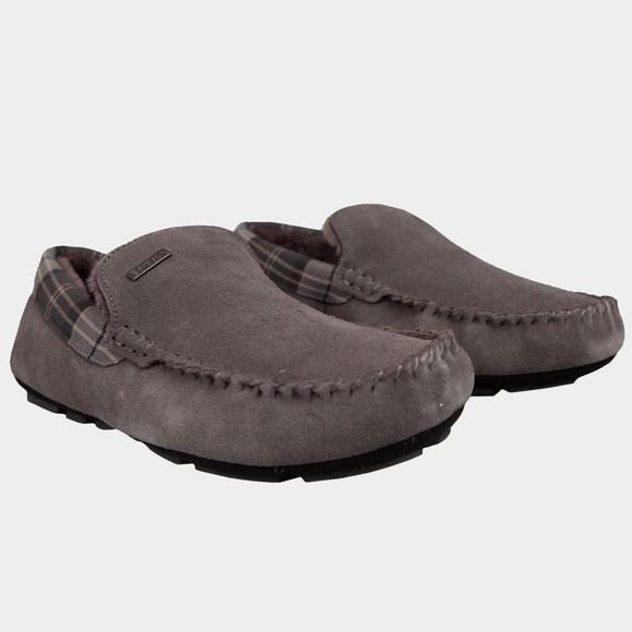 Barbour Lifestyle Mens Grey Monty Slipper