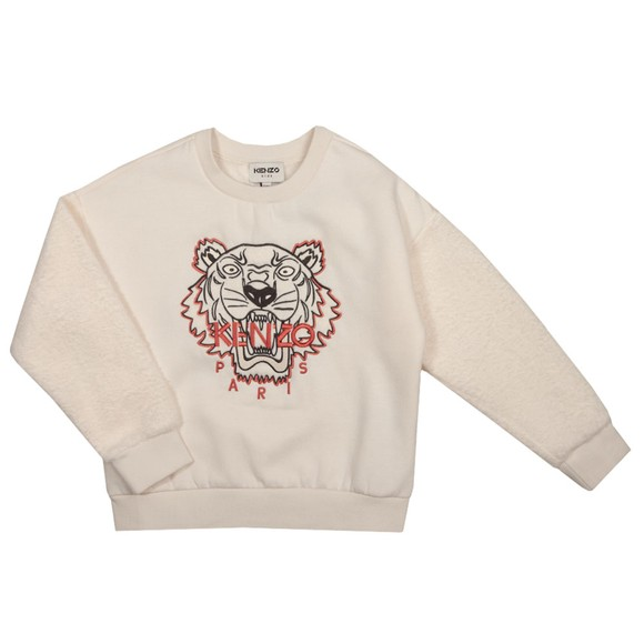 Kenzo Kids Girls Off-White Tiger Sweatshirt