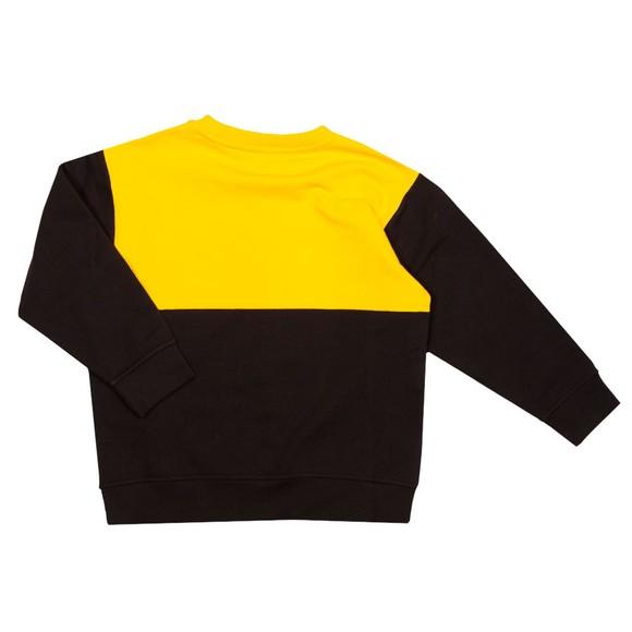 Emporio Armani Boys Yellow Large Eagle Logo Sweatshirt