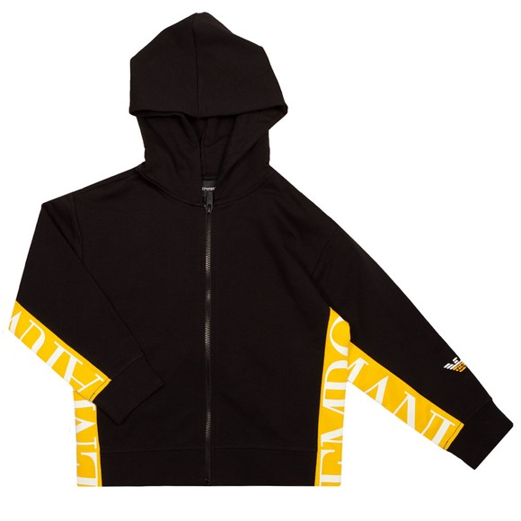 Emporio Armani Boys Black 6K4BJ5 Full Zip Hoody