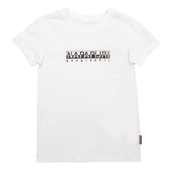 Napapijri Boys White K S-Box SS T Shirt main image