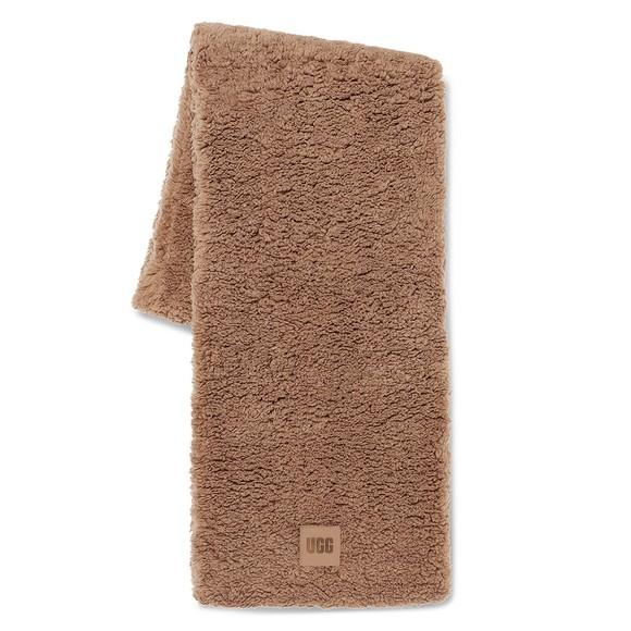 Ugg Womens Brown Sherpa Oversized Scarf