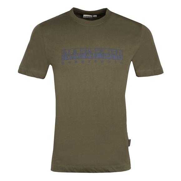Napapijri Mens Green Serber Print T-Shirt