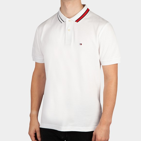 Tommy Hilfiger Mens White Sophisticated Tipping Polo Shirt
