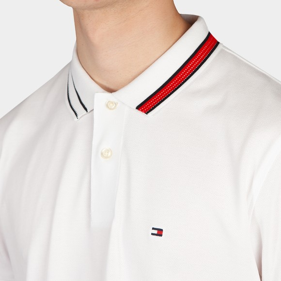 Tommy Hilfiger Mens White Sophisticated Tipping Polo Shirt main image