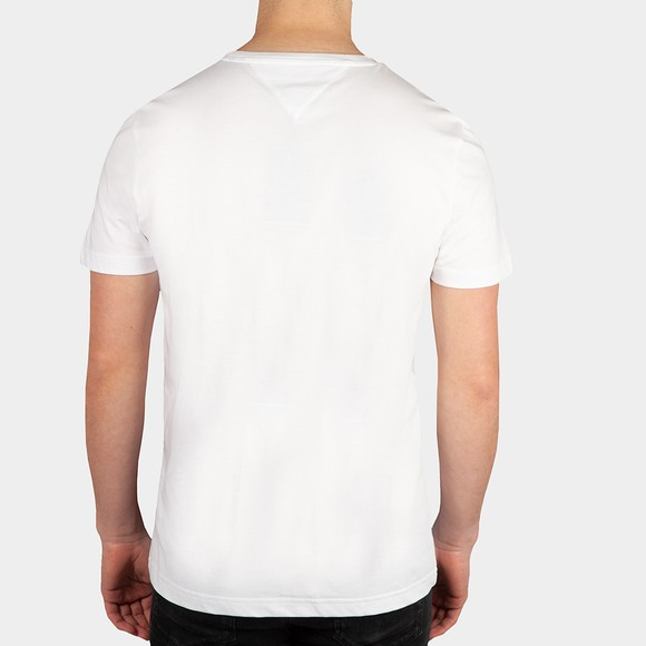 Tommy Hilfiger Mens White Lines Hilfiger T-Shirt main image