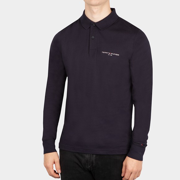 Tommy Hilfiger Mens Blue Clean Jersey LS Polo