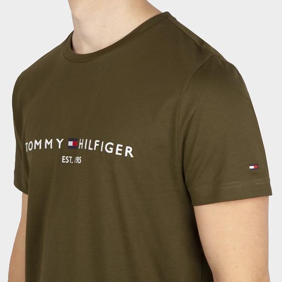 Tommy Hilfiger Mens Green Tommy Logo T-Shirt main image