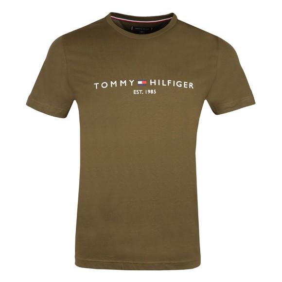 Tommy Hilfiger Mens Green Tommy Logo T-Shirt